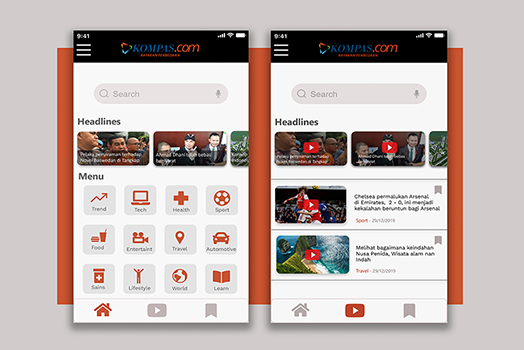 Re Design Kompas News App & Mobile App Development